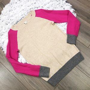 J. Crew Factory Colorblock Waffle Merino Sweater